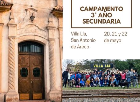 Campamento de 3° Año Secundaria en Villa Lía