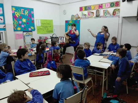 Sala de 5 Superhéroes, momentos de la articulación con la escuela primaria