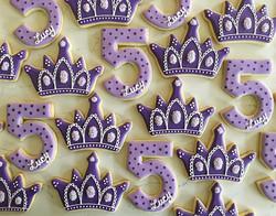 Happy Birthday Lucy! 💜 #trophybaking #customcookies #icedcookies #tiaracookies #portland