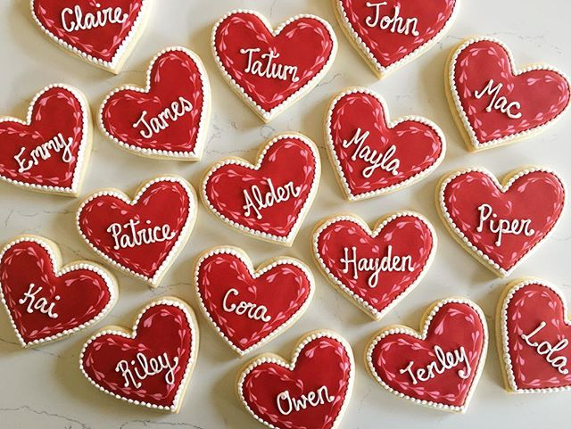 ❤️❤️❤️ #trophybaking #customcookies #icedcookies #pdxcookies #portland