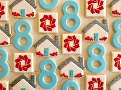 Happy 8th Anniversary to _livingroomrealty _#trophybaking #customcookies #icedcookies #pdxrealestate