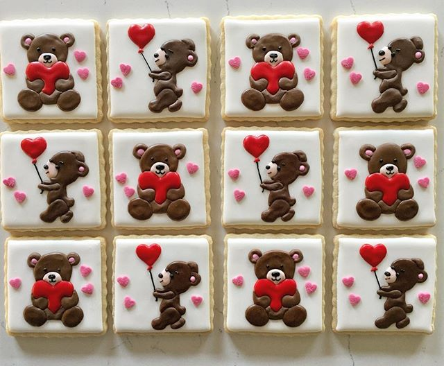 Bear hugs #trophybaking #customcookies #icedcookies #pdxcookies #portland