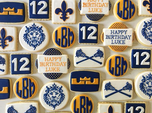 A mashup of lacrosse and Lebron for Luke's 12th birthday _#trophybaking #customcookies #icedcookies