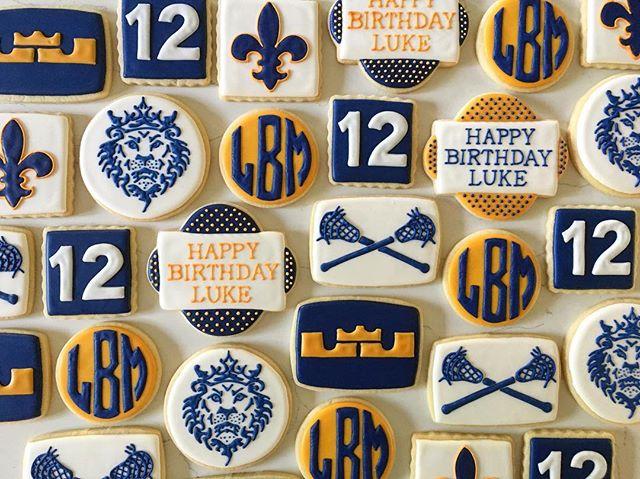 A mashup of lacrosse and Lebron for Luke's 12th birthday _#trophybaking #customcookies #icedcookies