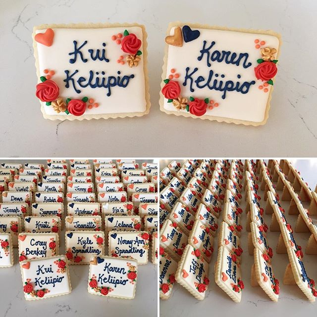 Edible place cards for the Keliipio wedding