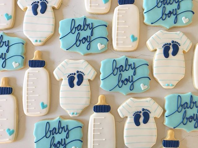 💙💙💙_#trophybaking #customcookies #icedcookies #pdxcookies #portland #babyshower