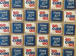 Happy 80th birthday to my father in law the life long Cubs fan 😊_#trophybaking #customcookies #iced