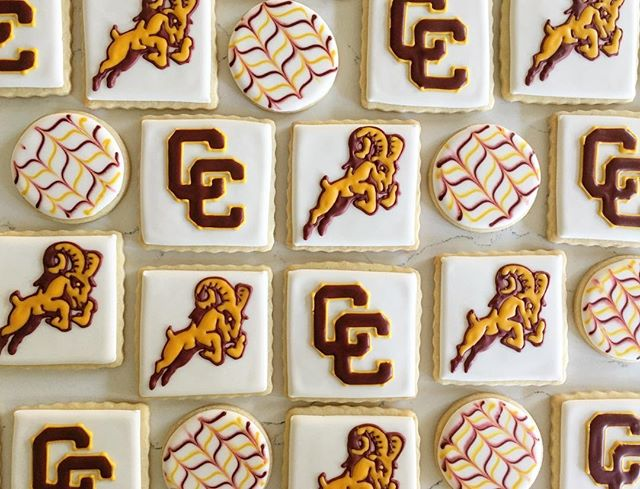Central Catholic Rams #trophybaking #customcookies #centralcatholic #cchsauction #cchsrams #portland