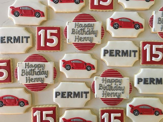 Happy Birthday to my favorite nephew!!! #trophybaking #customcookies #icedcookies #carcookies #portl