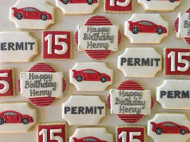 Happy Birthday to my favorite nephew!!! #trophybaking #customcookies #icedcookies #carcookies #portl