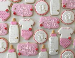 Welcome baby girl 🎀 #trophybaking #customcookies #babyshowercookies #pdxcookies #portland _citymama