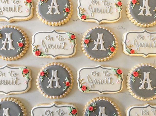 Congratulations Abigail!  On to Jesuit _#trophybaking #customcookies #icedcookies #pdxcookies #portl