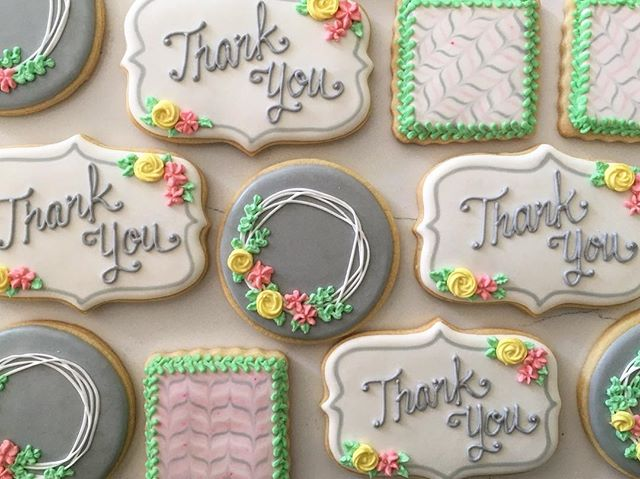 Pretty thank yous 🌸💐 #trophybaking #customcookies #icedcookies #pdxcookies #portland