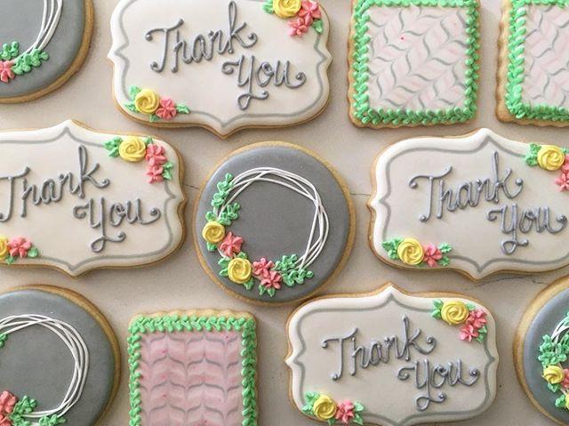 Pretty thank yous 🌸💐 #trophybaking #customcookies #icedcookies #pdxcookies #portland