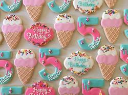 Happy 5th birthday Patrice 🍦💕🍬_#trophybaking #customcookies #icedcookies #pdxcookies #portland _r