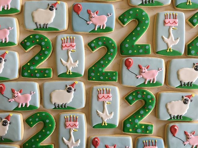 Happy Birthday Miles! 💚 #trophybaking #customcookies #icedcookies #portland