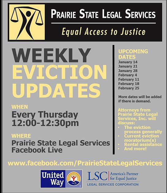 PSLS Weekly Eviction Updates Flyer (upda