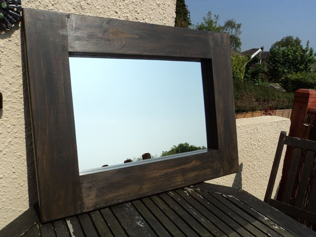 Large Chunky Wooden Mirror