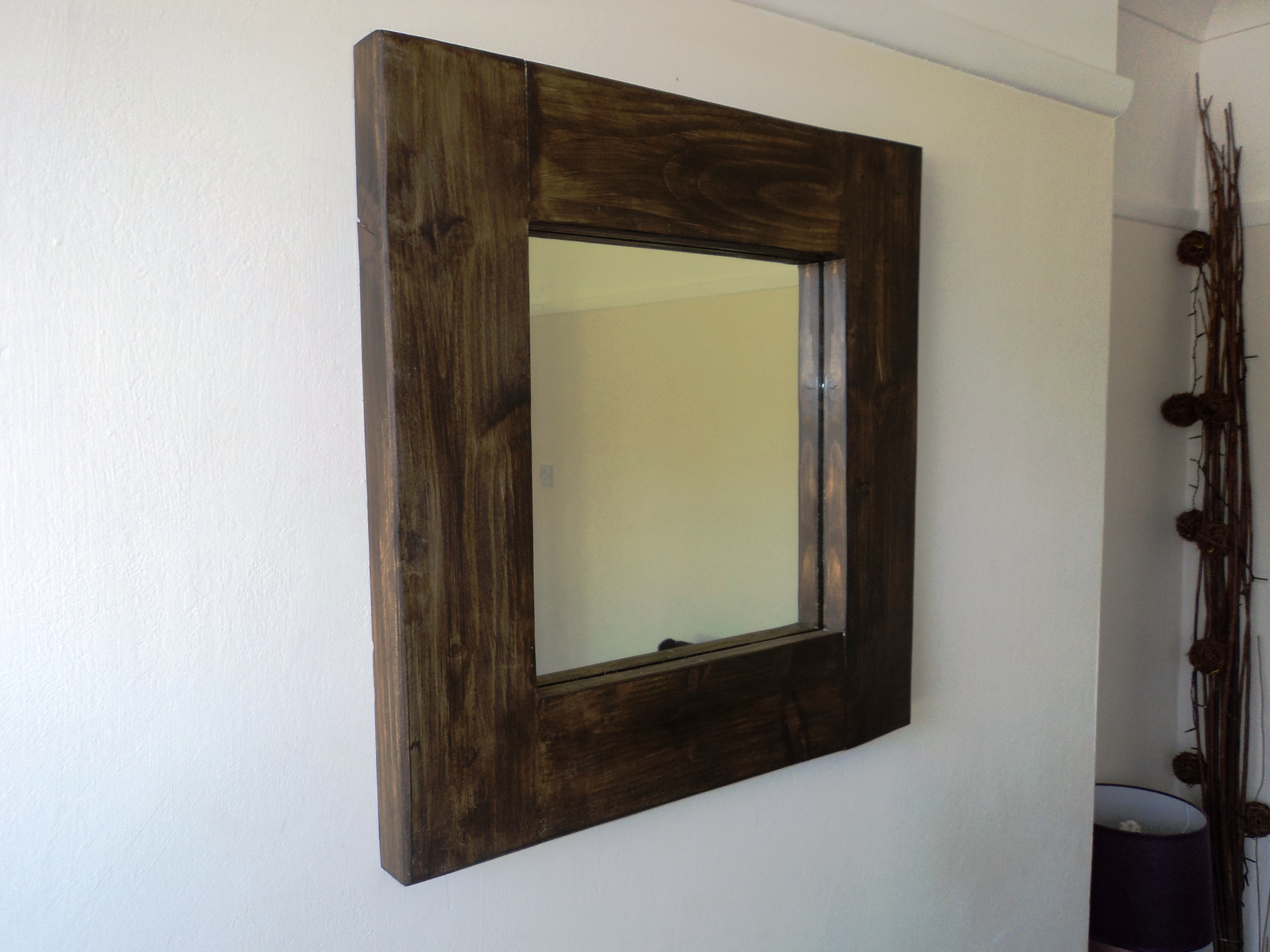 Small Chunky Wooden Mirror