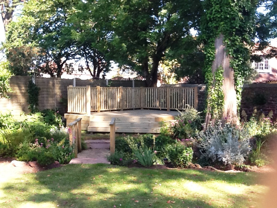 Raised Decking With Balustrade