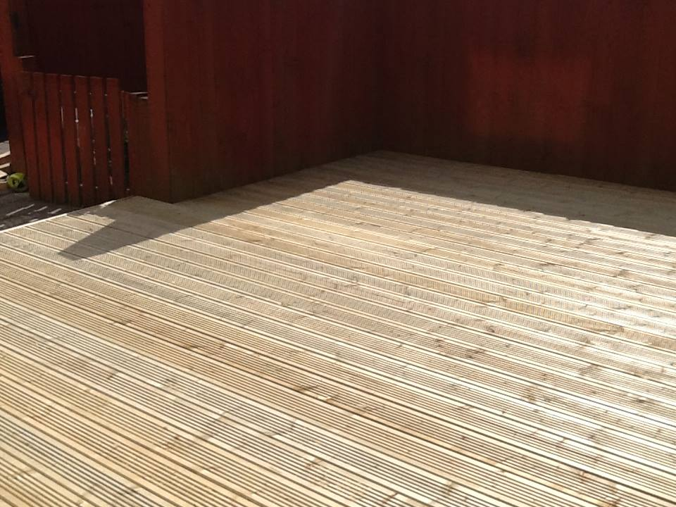Raised Decking-Feather Edge Fencing