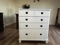Custom Made Love Heart Drawers