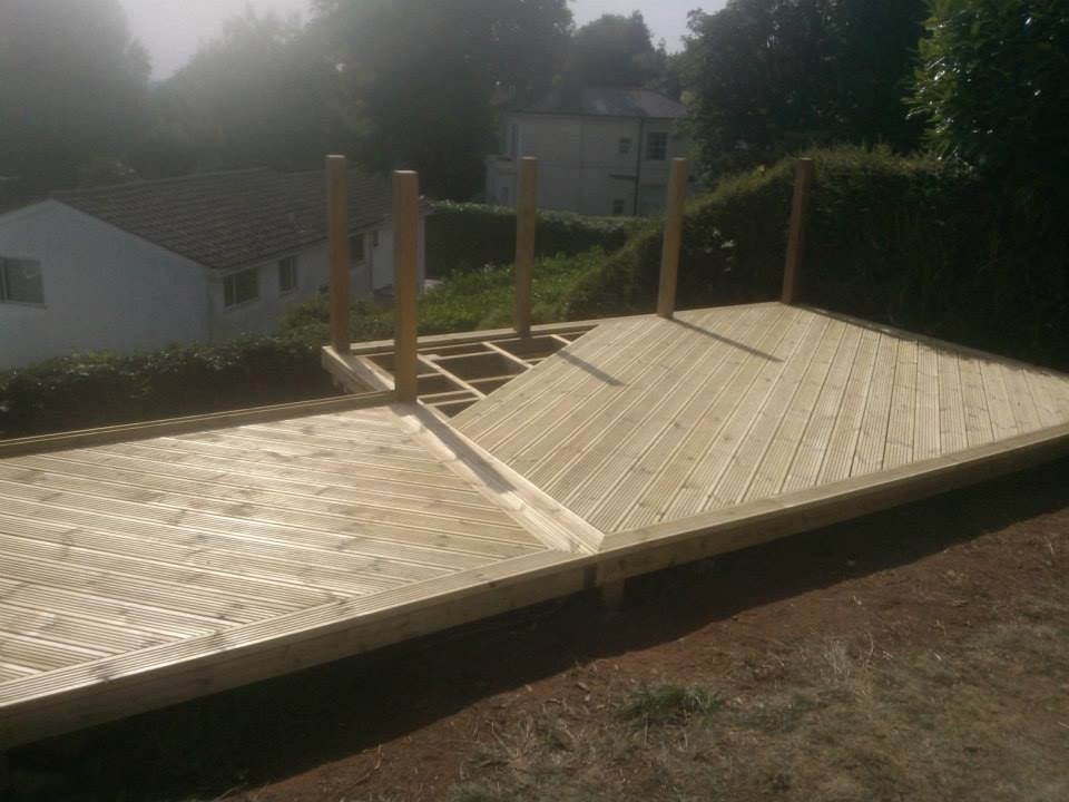Angled Decked Boards