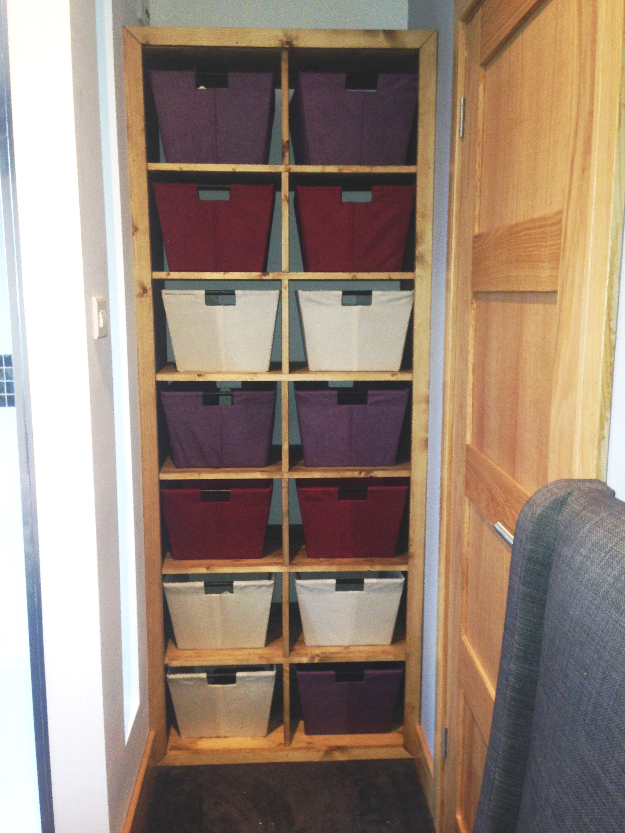 Custom Built Basket Storage Unit
