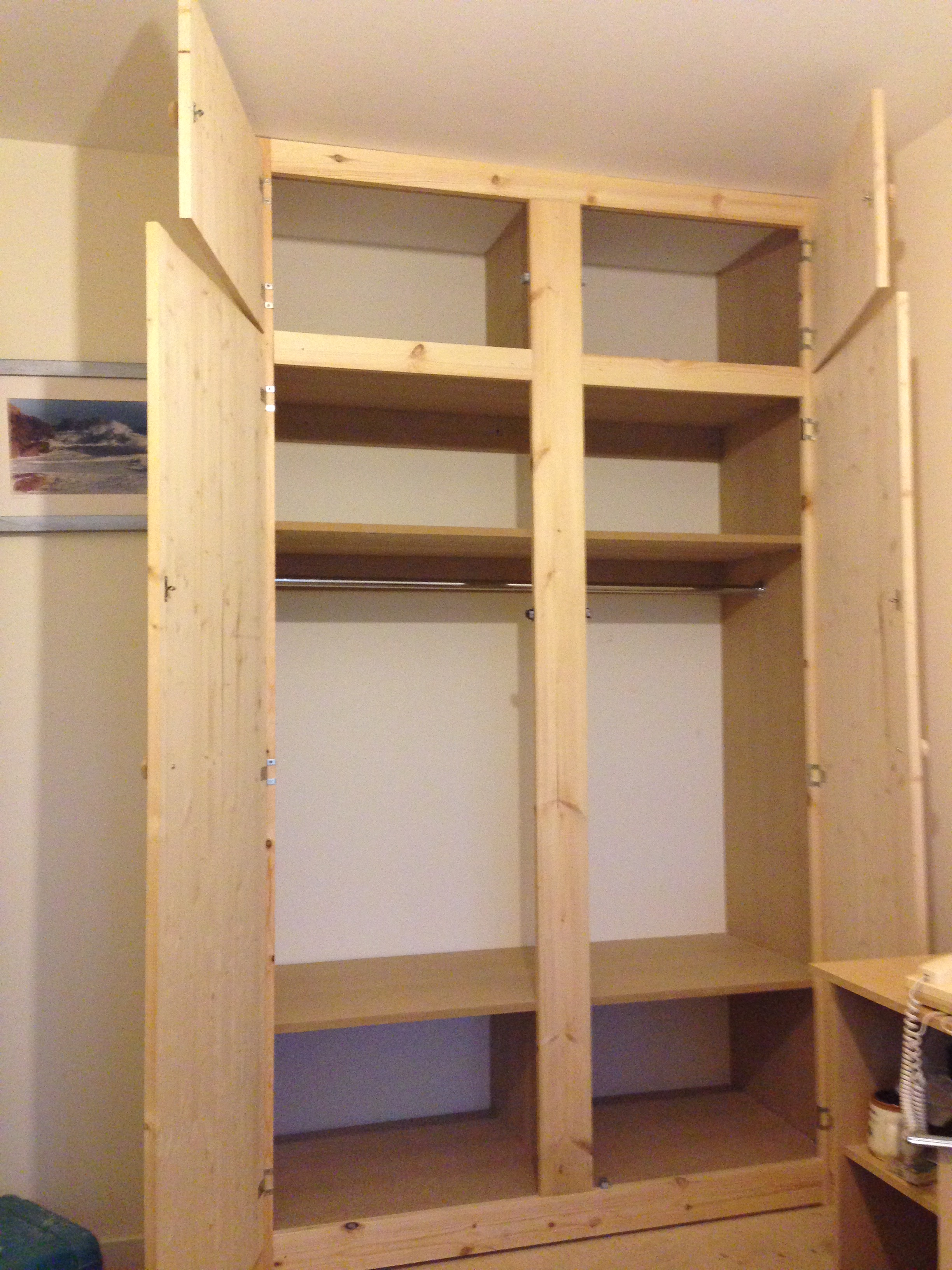 Cheshire Pine Fitted Wardrobe
