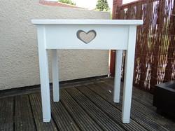 Custom Made Solid Wood  Side Table