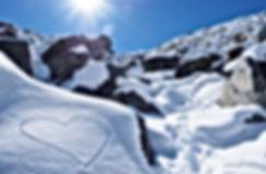 Bergsteiger lieben die Berge