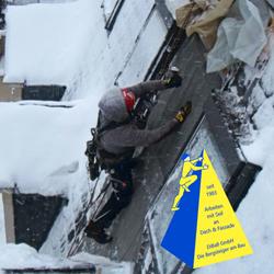 Dacharbeit im Winter 009