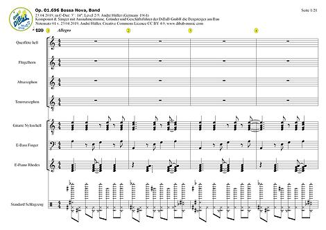 Op. 01.696 2019042301 Bossa Nova, Band