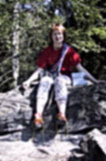 Ute Hüller auf Gipfel in der Sächsischen Schweiz