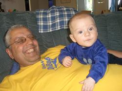 André Hüller mit Sohn Chris