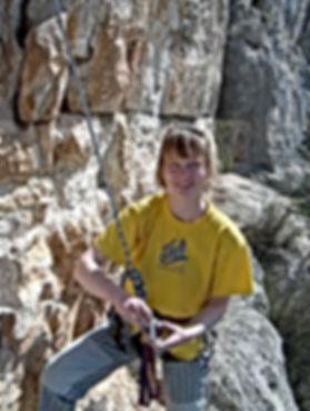 Ute Hüller beim DiBaB - Bergsteiger - Training