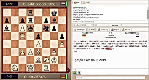 20191106 Schwarz mit 1872 Elo gibt schon