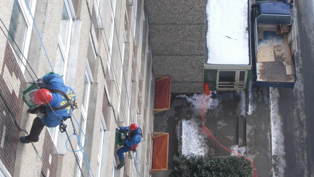 #Dacharbeit ohne Gerüst Dresden #Dachreparatur #Dach reparieren #Dachsteiger Dresden #Dachrinnenrein