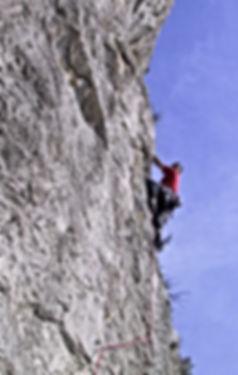 Andre Hueller beim Training der DiBaB GmbH die Bergsteiger am Bau