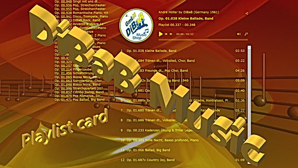 Playlist 00.337-00.348, DiBaB Music Shop