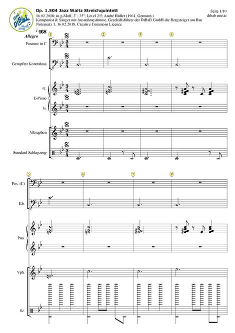 Op. 01.504 2018021601 Jazz Waltz Quintett