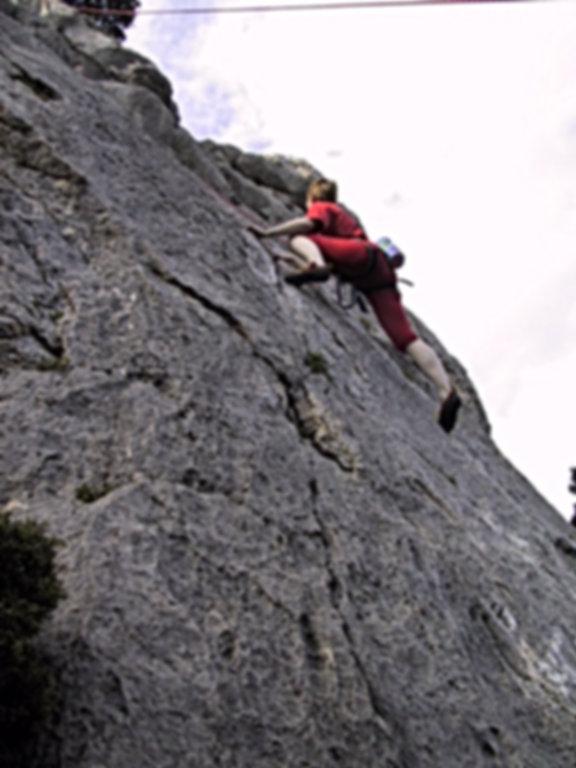 Ute Hüller beim Training der DiBaB GmbH die Bergsteiger am Bau dachnotdienst.de