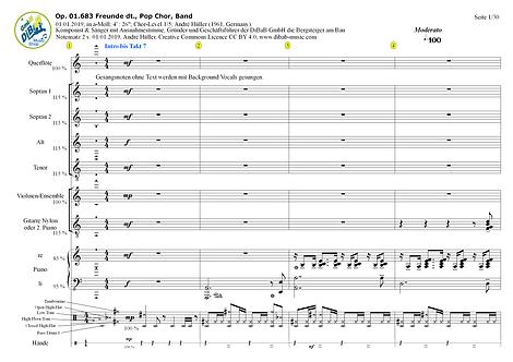 Op. 01.683 2019010102 Freunde dt., Pop Chor, Band