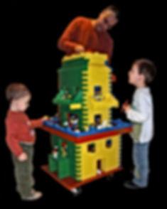 Andre Hüller beim Lego Spiel mit seinen Söhnen