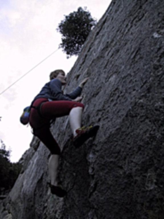 Ute Hüller beim Training der DiBaB GmbH die Bergsteiger am Bau