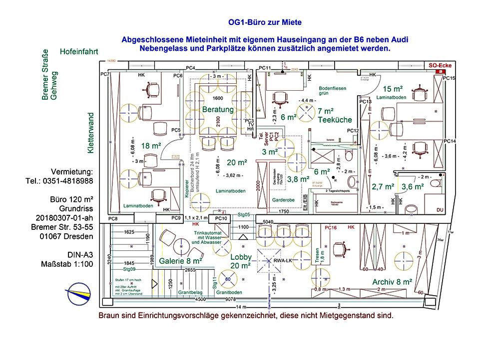 EFH, Einfamilienhaus, Gewerbe, Einliegerwohnung, Buero, Dresden, dibab