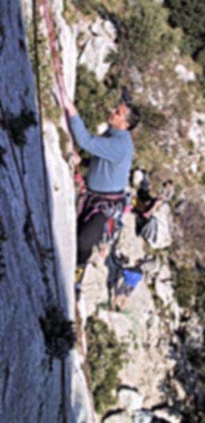 André Hüller beim Training der DiBaB GmbH die Bergsteiger am Bau