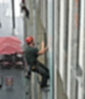 Fassadeninspektion durch DiBaB GmbH die Bergsteiger am Bau