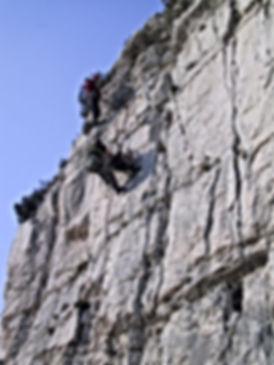 Andre Hüller beim Training der DiBaB GmbH die Bergsteiger am Bau