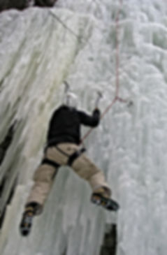 Eisfall-Klettern